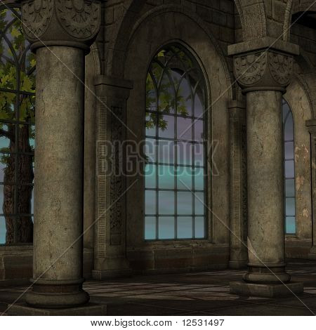 magic window in a fantasy setting