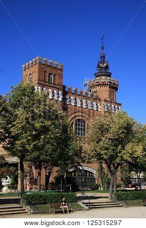 Barcelona, Catalonia, Spain - August 31, 2012: Castel Dels Tres Dragons In Parc De La Ciutadella. Ba
