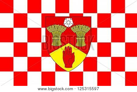 Flag of County Londonderry also known as County Derry is one of the six counties of Northern Ireland.