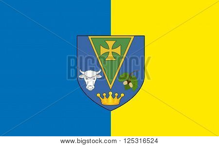 Flag of County Roscommon is a county in Ireland. It is located in the province of Connacht and also the West Region.