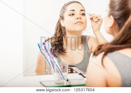 Pretty Girl Putting Some Makeup On