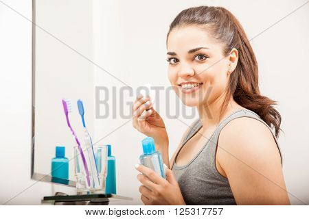 Using Makeup Remover In The Bathroom