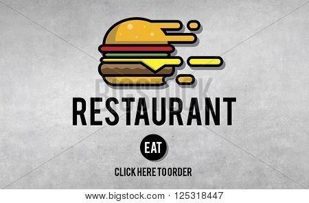 Menu Restaurant Order Now Online Burger Fast Food Concept