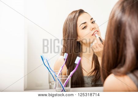 Attractive Woman Getting Ready For A Date