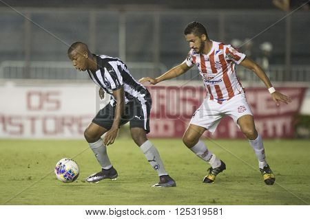 Rio de Janeiro Brasil - April 09 2016: Luis Ricardo and Arthur Sanches player in match between Vasco da Gama and Madureira by the Carioca championship in the S ** Note: Visible grain at 100%, best at smaller sizes