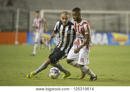 Rio de Janeiro Brasil - April 09 2016: Octavio and Guilherme player in match between Vasco da Gama and Madureira by the Carioca championship in the S