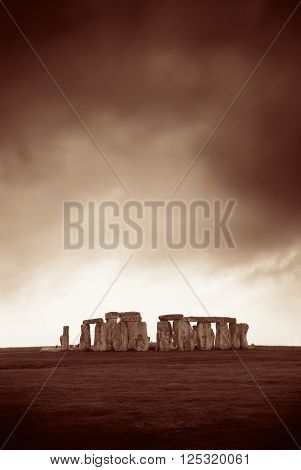 Stonehenge near London as the National Heritage site of UK.