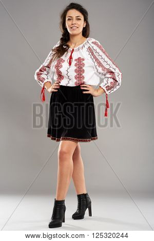 Young Romanian In Traditional Costume