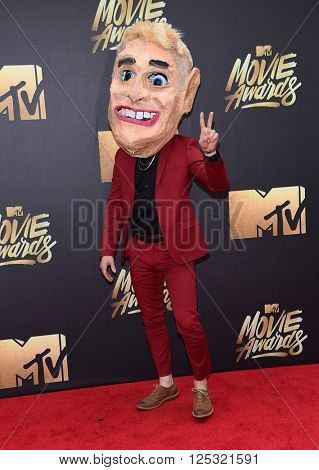 LOS ANGELES - APR 09:  Mike Posner arrives to the Mtv Movie Awards 2016  on April 09, 2016 in Hollywood, CA.