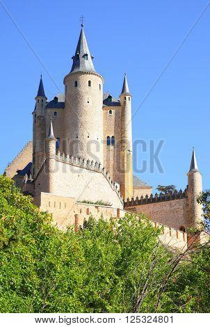 Castle of Segovia (Alcazar) in Spain