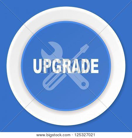 upgrade blue flat design modern web icon