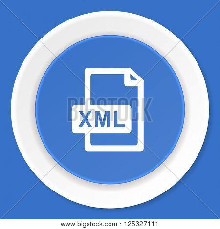 xml file blue flat design modern web icon