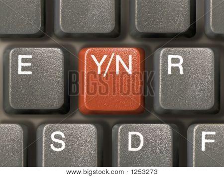 Keyboard (Closeup) With Y/N Key - Choice