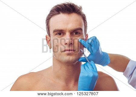 Handsome Man And Plastic Surgery