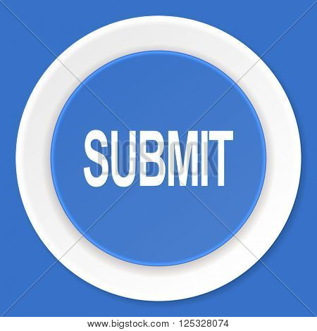 submit blue flat design modern web icon