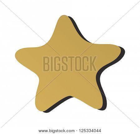 Golden star icon sign rating award best design graphic element decoration flat vector illustration.