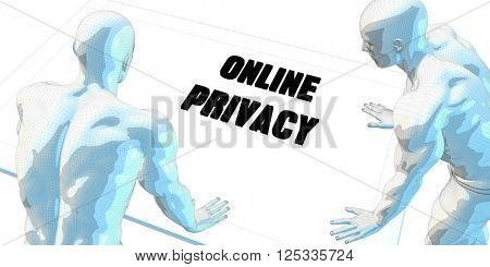 Online Privacy Discussion and Business Meeting Concept Art 3D Illustration Render
