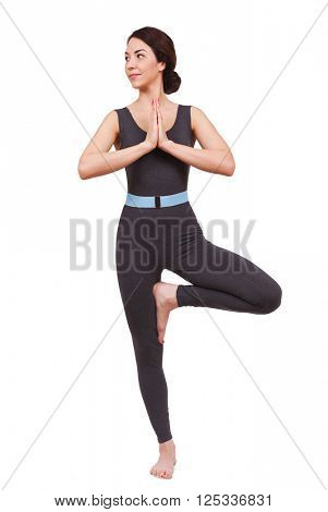young beautiful woman doing yoga