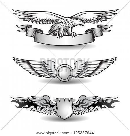 Winged Awards Set with Eagle