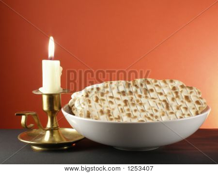Candle And Matzoh