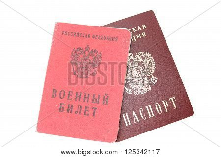 Passport and military ID card of a Russian citizen