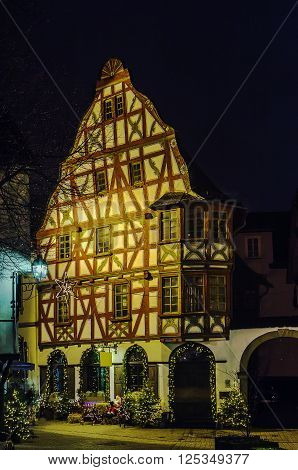 historical half-timbered house in Limburg, Hesse ,Germany