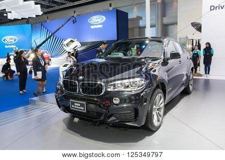 BANGKOK - MARCH 22: BMW X6 xDrive 30d car on display at The 37 th Thailand Bangkok International Motor Show on March 22 2016 in Bangkok Thailand.
