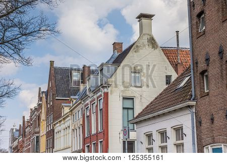 Old houses the center of Groningen Holland