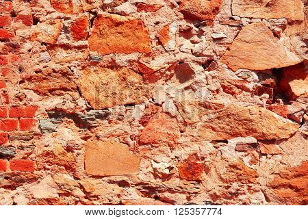 Rustic Brick Wall Background.