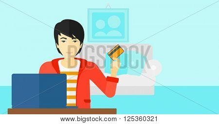 Man making purchases online.