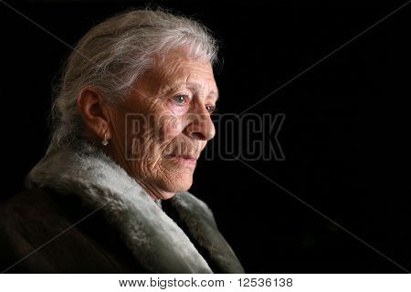Senior woman thinking