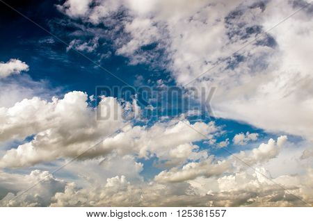 blue sky with cloud close up background