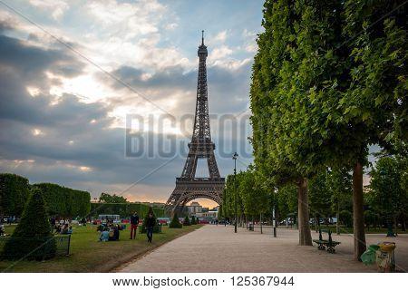 Eiffel Tower With Park Around, Paris