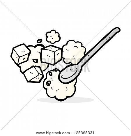 cartoon sugar lumps