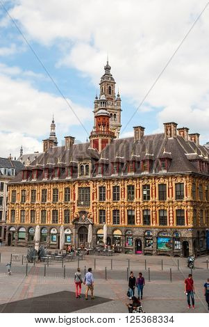 Central Town Square And City Hall In Lille, France