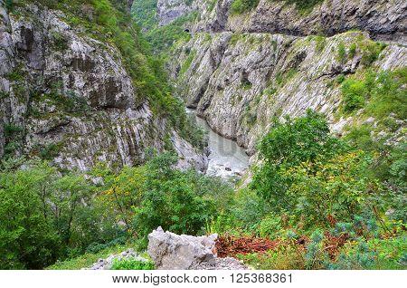 River On Montenegro Mountains