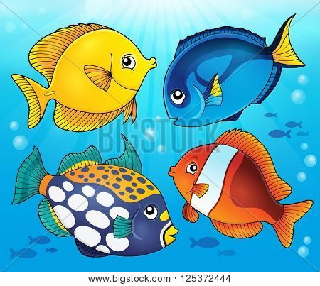 Coral reef fish theme image 5 - eps10 vector illustration.