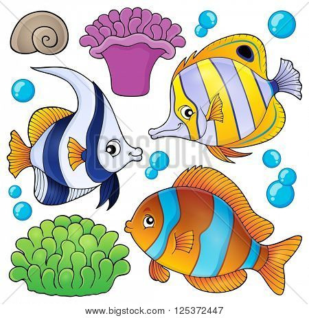 Coral reef fish theme collection 3 - eps10 vector illustration.