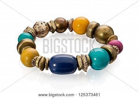 Stylish Bracelet Made Of Large Stone Beads