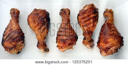Chicken Drumsticks; Barbecue (BBQ) Grilled Chicken legs