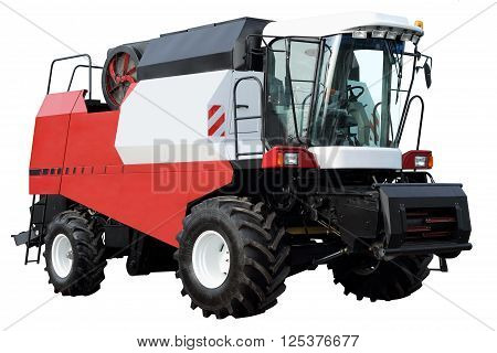 Combine without attachments isolated on white background.
