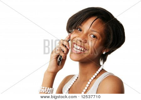 Beautiful Girl Talking On The Phone