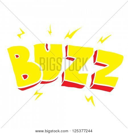 freehand drawn cartoon buzz symbol illustration