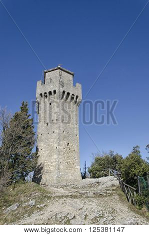The third tower of Mount Titan in San Marino