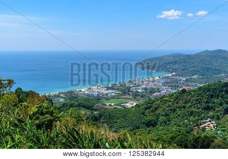Viewpoint of Phuket city Phuket province Thailand.