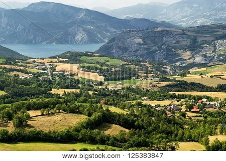 Col-Saint-Jean (Alpes-de-Haute-Provence Provence-Alpes-Cote-d'Azur France): mountain landscape at summer