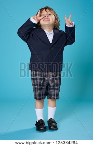 Young Boy In School Uniform