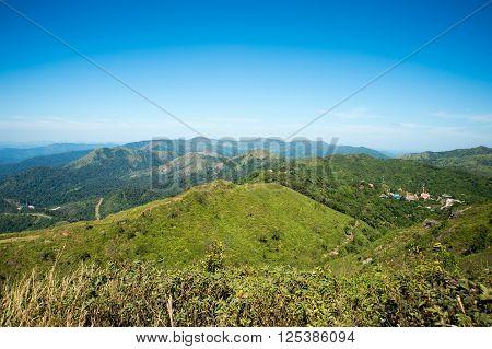 Scenic Destination Ridge Of Mountain In Kanchanaburi, Thailand