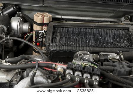 Time Bomb on Car Engine