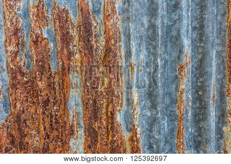 rusted old galvanized iron plate texture background